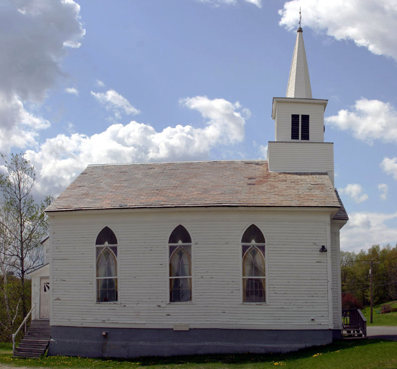 Photo of The little white church in Savoy