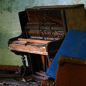 Piano and chair